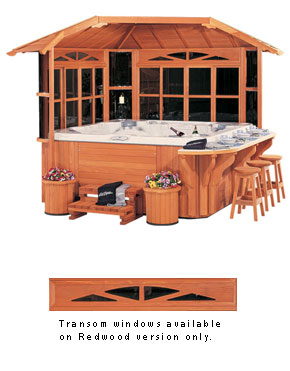 Gazebos villas custom gazebo build a gazebo family for Cal spa gazebo